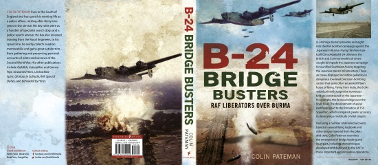 B-24 Bridge Busters By Colin Pateman, Books Jacket Cover