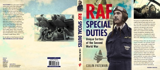 RAF Special Duties By Colin Pateman, Books Jacket Cover