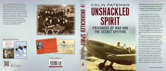 Unshackled Spirit By Colin Pateman, Book's Jacket Cover